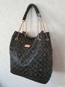 Giulia Pieralli Luxus XXL Handtasche Schultertasche Schwarz Farbe Shopper Neu