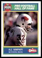 1989 Hall of Fame Green #127 O.J. Simpson HOF RARE  Buffalo Bills / USC Trojans