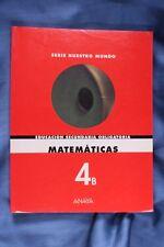 Libro Matemáticas. 4ºB ESO. 1998
