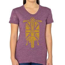 "Union Jack Vespa American Apparel Women's Tee Shirt ""Junior Size"""