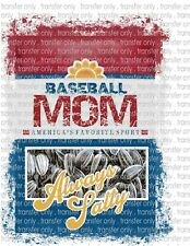 Sunflower Seeds Baseball Waterslide Decals for Tumblers & Furniture - Permanent