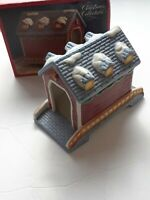 SANTA'S BEST Christmas Collectable 1991 Covered Bridge Hand Painted Porcelain
