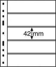 Leuchtturm Blankoblätter Schwarz OPTIMA-Hüllen 5 S (10 Stück Neu