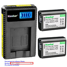 Kastar Battery LCD USB Charger for Sony NP-FW50 BC-VW1 & ILCE-6000 Alpha a6000