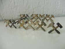 6 schöne ,alte Messerbänkchen , Bergbau ( gekreuzte Hammer ) , 800 Silber  !