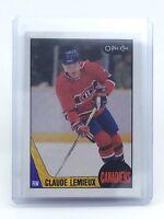 1987-1988 Claude Lemieux #227 Montreal Canadiens OPC O-Pee-Chee Hockey Card H632