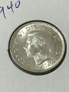 Canada silver 1940 quarter (twenty five cents) very good grade as pictured (2)