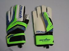 NEW Reusch Soccer Goalie Gloves Serathor RG Finger Support Stays 3770610S SZ 7