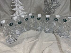 8pc Ralph Lauren Brogan Highball Glasses Lead Crystal 13.7 oz NEW FROM GERMANY