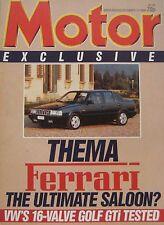 Motor magazine 13/12/1986 featuring VW Golf GTi, Toyota MR2, Lancia Thema 8.32