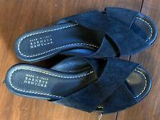 4fb899e6b4ff Barney s New York Black Suede Strap Wedge Sandals Size 38 (US 8) EUC