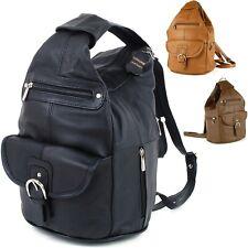Womens Leather Backpack Purse Sling Shoulder Bag Handbag 3 in 1 Convertible Bag