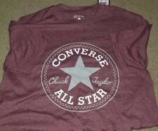 Converse Chuck Taylor All-Star T-Shirt Mens XS Extra Small Heather Maroon