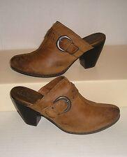 B.O.C Born Women's Camel Leather Casual/Dress Clogs Mules Slides Slip-Ons Sz 8 M