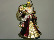 Gorgeous Safari Santa with Sack/Animal Print Christmas Ornament, Poland