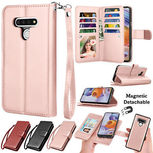 For LG Stylo 6 Flip Leather Wallet Case Magnetic Stand Cover with Card Holder