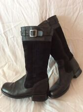 Start-Rite Black Mid Calf Leather Boots Size 3.5F