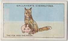 The Fox And The Mask Aesop's Fable Moral Story 1920s Trade Card