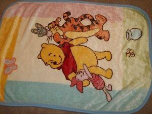 30x45 Disney Winnie the Pooh Tigger Piglet Boa Minky Plush Crib Baby Blanket
