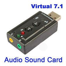 Tarjeta de sonido USB 2.0 a 3.5mm Audio Micrófono  Puerto 7.1 Channel Sound Trac