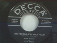 """WEBB PIERCE """"CAN YOU FIND IT IN YOUR HEART / OH SO MANY YEARS"""" 45"""