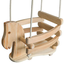 Ecotribe Wooden Horse Swing Set for Toddlers - Indoor & Outdoor Baby Swing