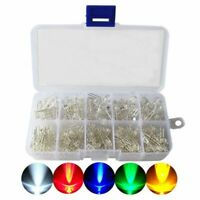 LED Diode Kit,3mm 5mm LED Lights Emitting Diodes Assorted Clear Bulbs with J5J4