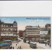 AK Berlin - Unter den Linden Kranzlerecke Restaurant Geschäfte Straßenbahn 1928