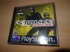 G POLICE Weapons of Justice-ps1 PAL Comme neuf collectors