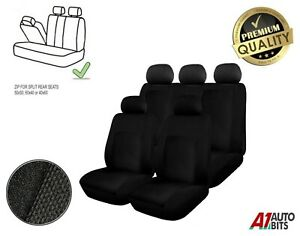 For Toyota Yaris Avensis Auris Corolla Full Split Seat Covers Protectors Black
