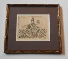 Goddess Picture Gold Wood Frame Artist Proof Personalized Signed Vintage