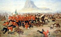 "The Battle of Isandlwana Zulu Canvas Picture Print 30""x20"""