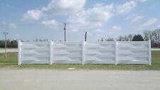 Made in USA 6' x 4' Vinyl Basket Weave Fence Section with one post NO SCREWS