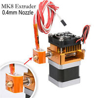 BZ MK8 Extruder Head J-head Hotend 0.4mm Nozzle for 3D Printer MakerBot Prusa i3