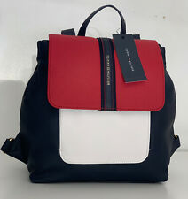 NEW! TOMMY HILFIGER NAVY BLUE RED TRAVEL WORK LAPTOP BACKPACK BAG PURSE $98 SALE