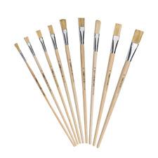 9 x Strichzieher Künstlerpinsel Malerpinsel Lackpinsel Flachpinsel Gr. 2 bis20