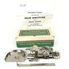 Singer Hemstitcher And Picot Edger 121387 & Sewing Machine Plate 121388 & Box