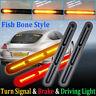 2* 60LED Car Universal LED Light Bar Brake Flowing Turn Signal Stop Tail Strip