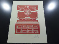 Shepard Fairey - Chinese Banner - Letterpress - Obey Giant - Signed / Numbered