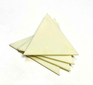 3 inch Triangle Soft Yellow Stained Glass Mosaic Tile Wall Kitchen (Pack of 5)
