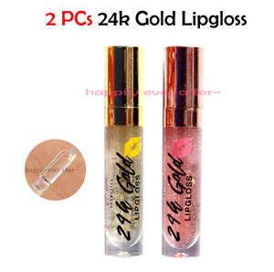 Px Look 24k Gold Lip Gloss - 2 PCs, 24k gold flakes on your Lips, Accent the Lip
