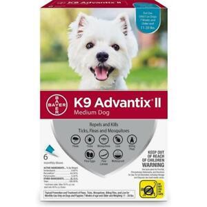 Bayer K9 Advantix II Flea, Tick and Mosquito Prevention (11-20 lbs), 6 doses