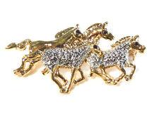 Bijou alliage doré broche cheval brooch