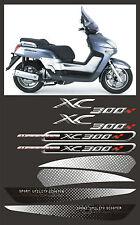 kit completo yamaha XC 300  sfondo nero - adesivi/adhesives/stickers/decal
