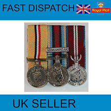 OP TELIC IRAQ- OSM AFGHANISTAN- DIAMOND JUBILEE-COURT MOUNTED MINIATURE MEDALS