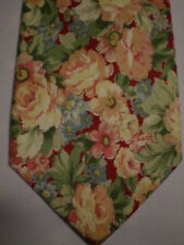 Aeropostale Pink Green Blue Cotton Floral Tie 58""