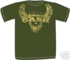 JOHNNY CASH ~ FLIGHT OLIVE MENS T-SHIRT ~ SMALL