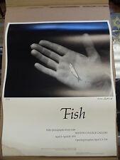 "Rare AARON SISKIND 1979 ""FISH"" POSTER BOSTON COLLEGE GALLERY"