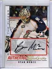 RYAN MUNCE 07/08 ITG BTP Rookie Auto Autograph Goalie #A-RMU Signed Hockey Card