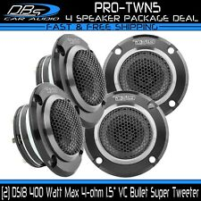 """New listing 4 Ds18 Pro-Twn5 Neodymium Bullet Tweeters 400W 4-ohm 1.5"""" Vc Super Horn Speakers"""